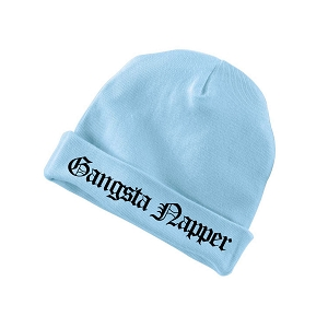 e5231ed8140 Gangsta Napper Funny Baby Beanie Cotton Cap Hat