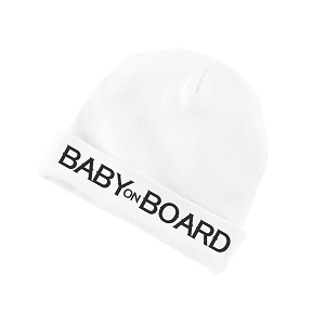 Baby On Board Parody Funny Baby Beanie Cotton Cap Hat
