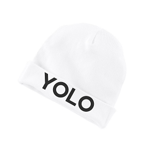 YOLO You Only Live Once Funny Baby Beanie Cotton Cap Hat