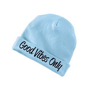 Good Vibes Only Funny Baby Beanie Cotton Cap Hat