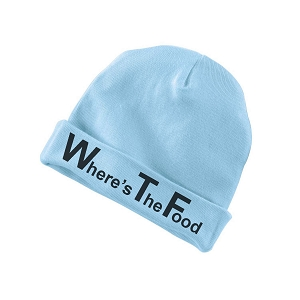WTF Where's The Food Funny Baby Beanie Cotton Cap Hat