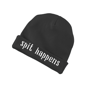 Spit Happens Funny Baby Beanie Cotton Cap Hat