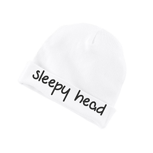 Sleepy Head Funny Baby Beanie Cotton Cap Hat