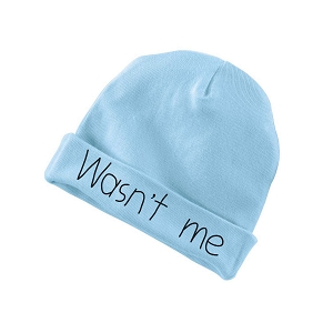 Wasn't Me Funny Baby Beanie Cotton Cap Hat