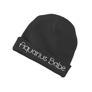 Aquarius Babe Zodiac Sign Baby Beanie Cotton Cap Hat