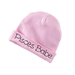 Pisces Babe Zodiac Sign Baby Beanie Cotton Cap Hat