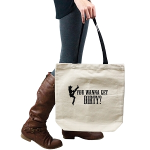 Funny Cowgirl You Wanna Get Dirty Tote Handbag Shoulder Bag Purse