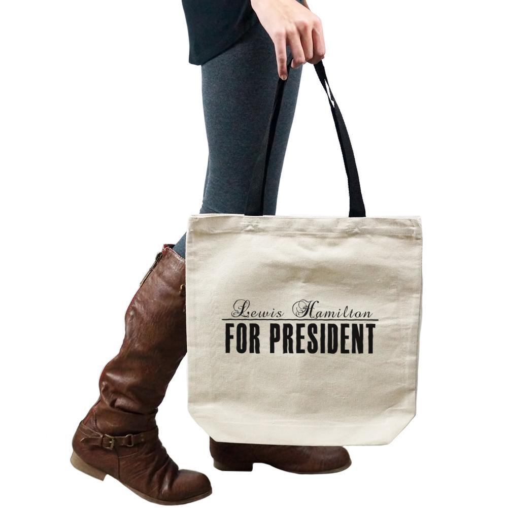 4390f29755a8 Lewis Hamilton For President 2016 Formula One F1 Tote Handbag ...