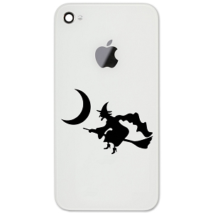 Witch Flying Broom Moon Spooky Silhouette Halloween 2