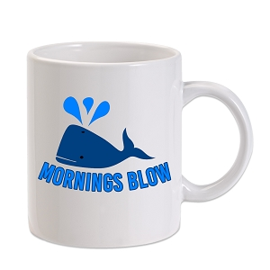 Mornings Blow Whale 11 oz. Novelty Coffee Mug