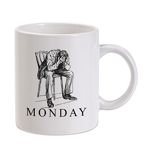 Monday Face 11 oz. Novelty Coffee Mug