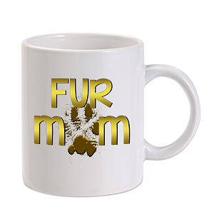 Fur Mom Paw Print 11 oz. Novelty Coffee Mug