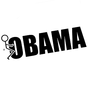 Funny Stick Figure Humping F*ck Obama Vinyl Sticker Car Decal