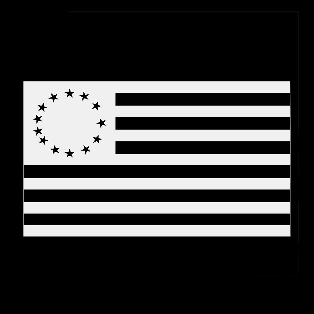 13 Colonies Vintage American Flag Vinyl Sticker Car Decal