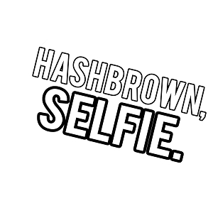 Hashbrown Selfie Funny Vinyl Sticker Car Decal