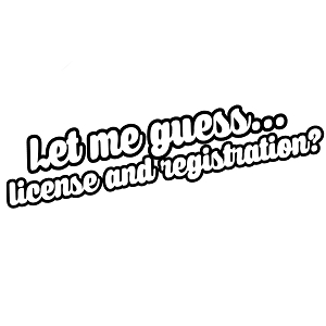 JDM Let Me Guess License and Registration Vinyl Sticker Car Decal