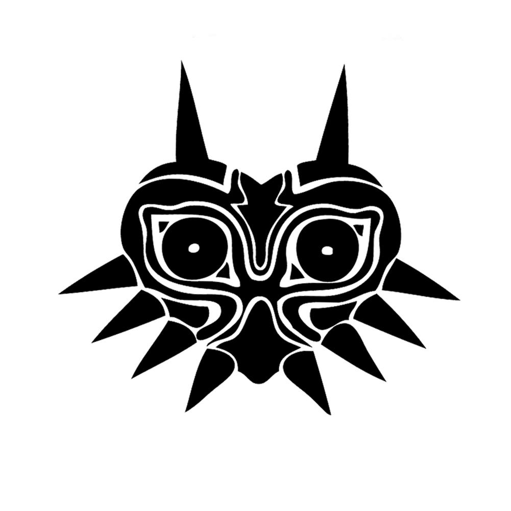 Majora S Mask Inspired Silhouette Vinyl Sticker Car Decal