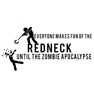Funny Redneck Zombie Apocalypse Walkers Vinyl Sticker Car Decal