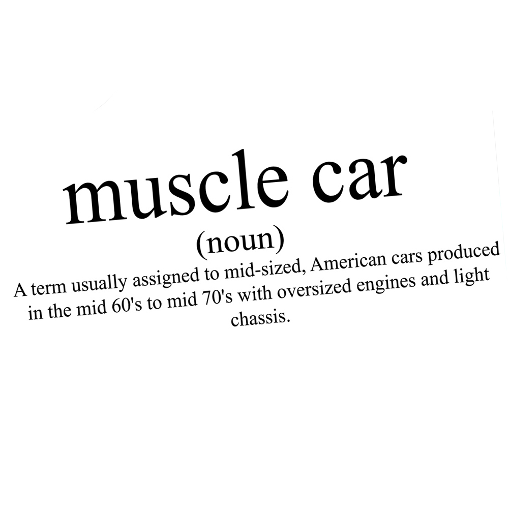 funny muscle car definition jdm vinyl sticker car decal