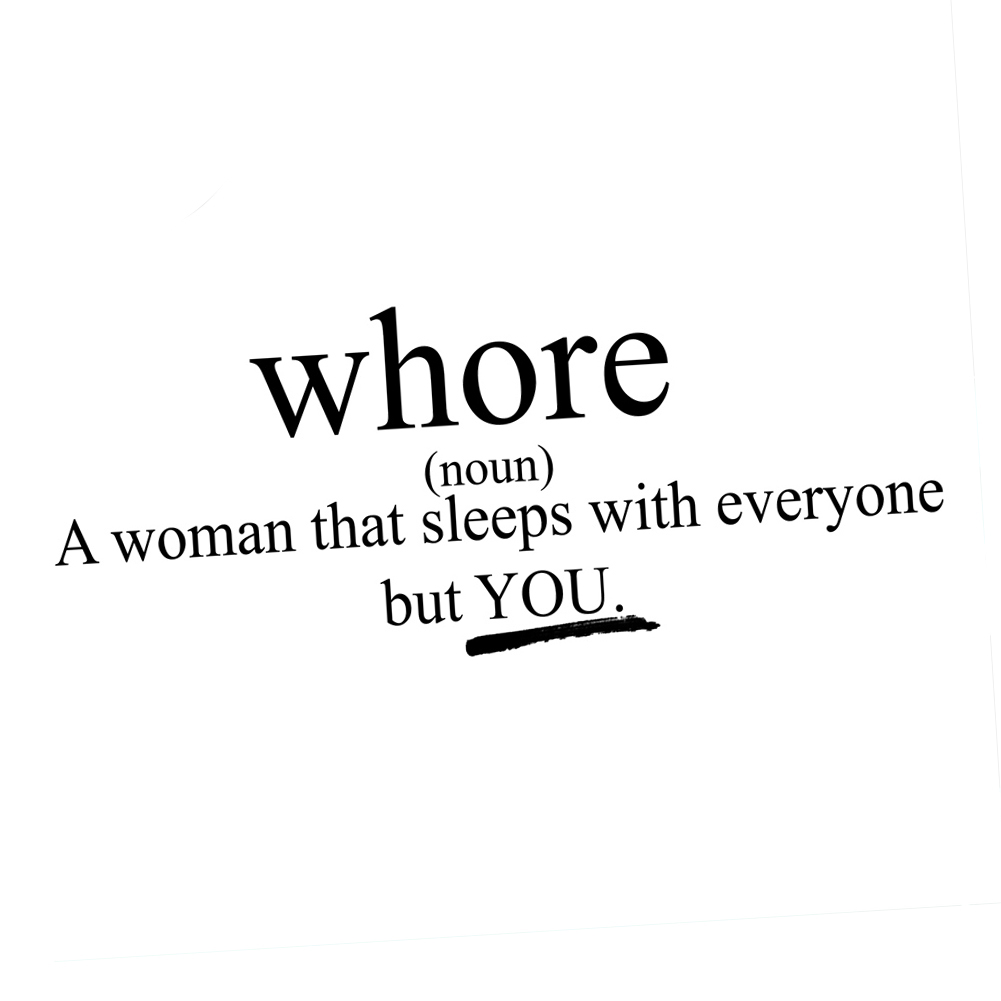 Funny Whore Definition Girl Vinyl Sticker Car Decal