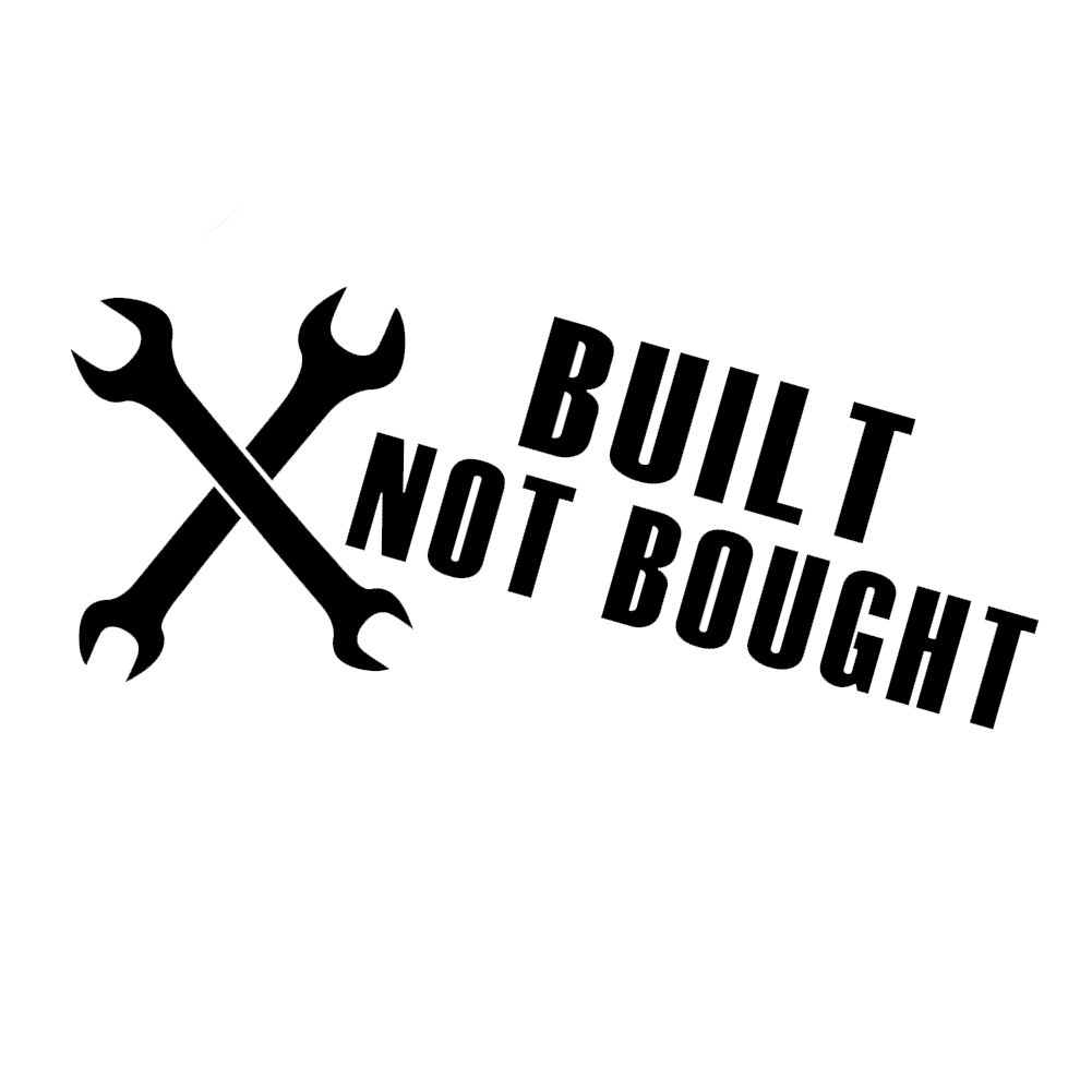 JDM Built Not Bought Wrenches Tools Vinyl Sticker Car Decal