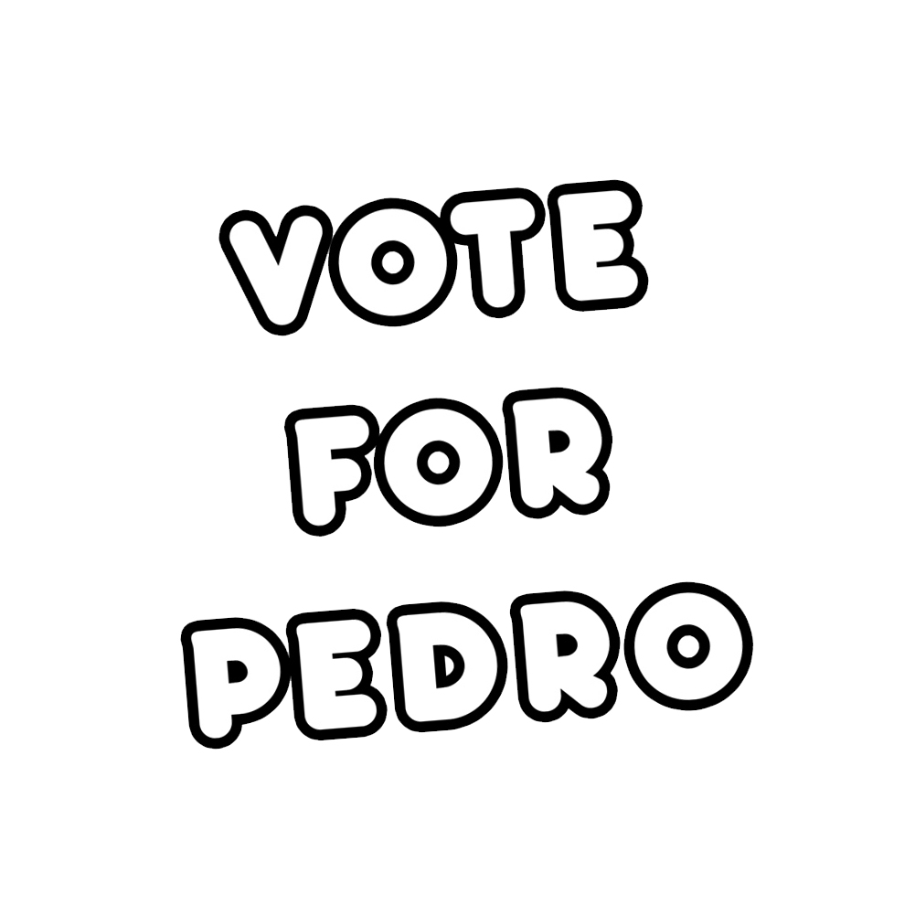 Vote For Pedro Napoleon Dynamite Vinyl Sticker Car Decal