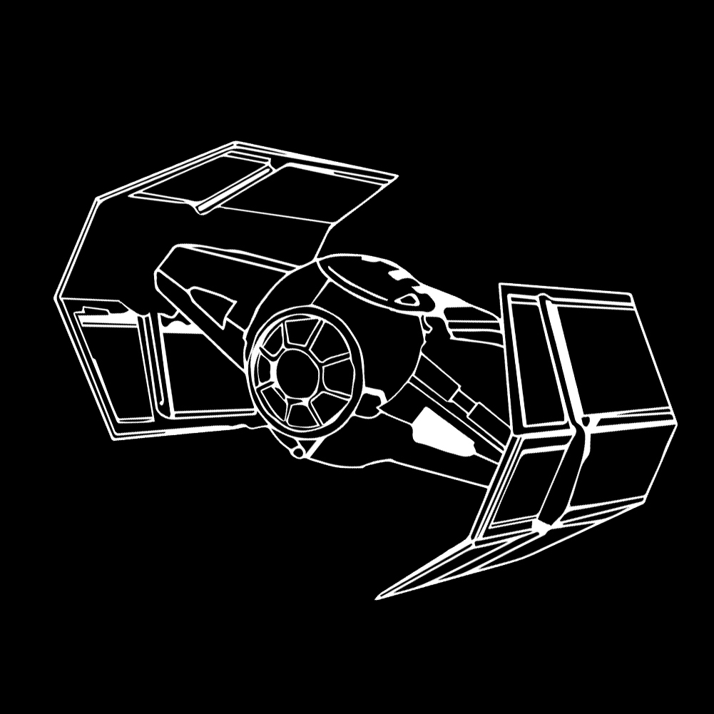 Darth Vader Tie Fighter Vinyl Sticker Car Decal