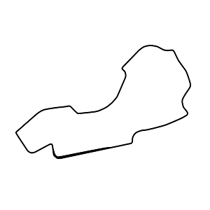 Melbourne Circuit Track Map Vinyl Sticker Car Decal