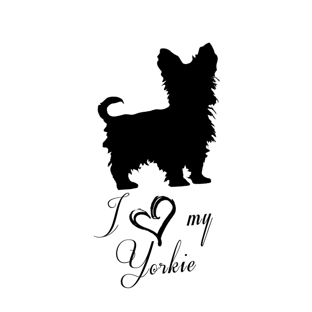 I Love My Yorkie Dog Cute Puppy Vinyl Sticker Car Decal