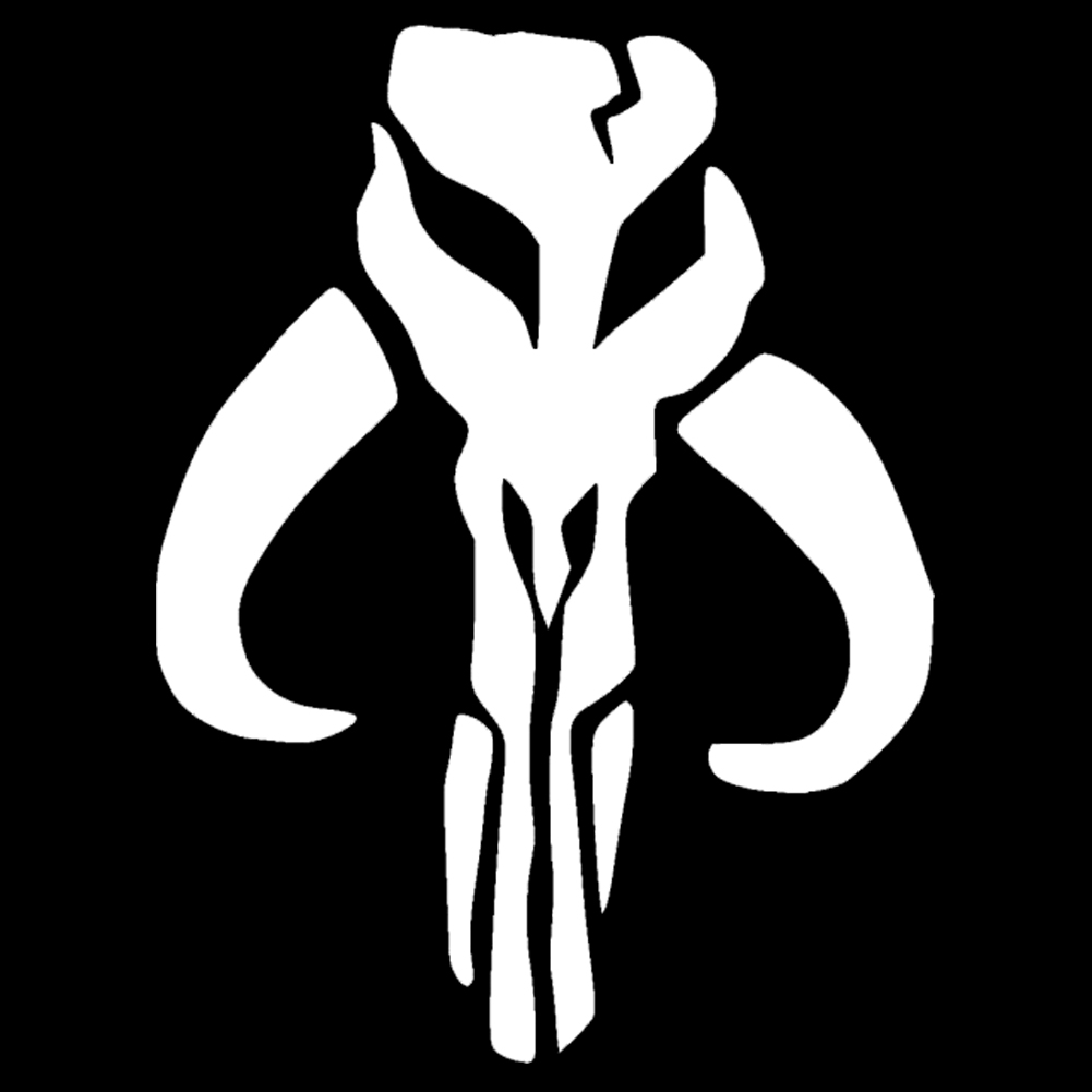 Mandalorian Skull Silhouette Vinyl Sticker Car Decal