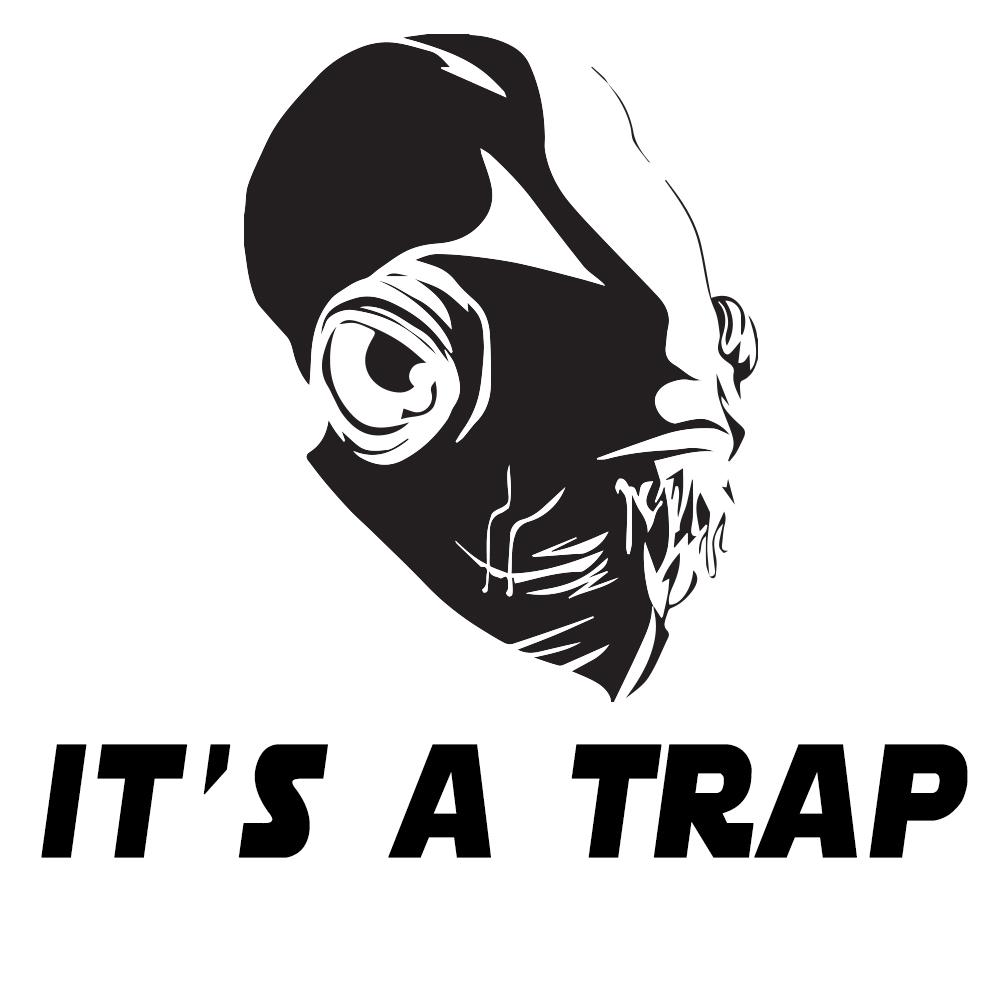 It S A Trap Admiral Ackbar Vinyl Sticker Car Decal