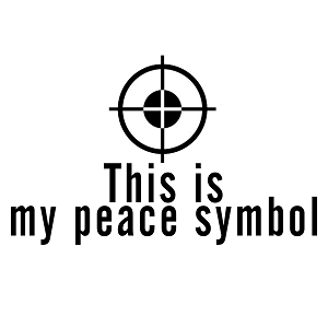 Sniper Target Shooting Firearm This is My Peace Symbol Funny Vinyl Sticker Car  Decal