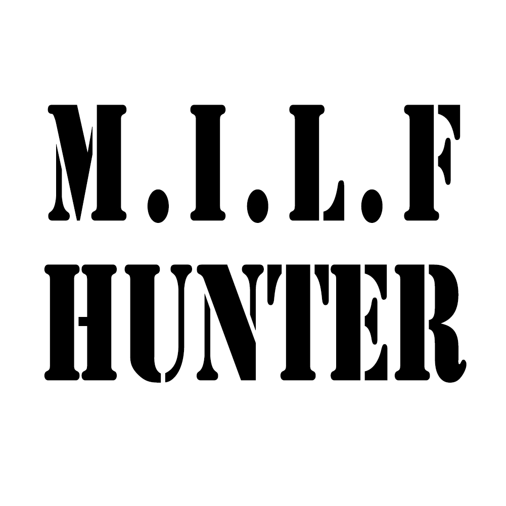 Milf hunter funny cougars vinyl sticker car decal