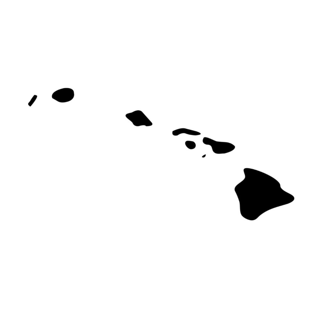 Hawaii State Silhouette Vinyl Sticker Car Decal