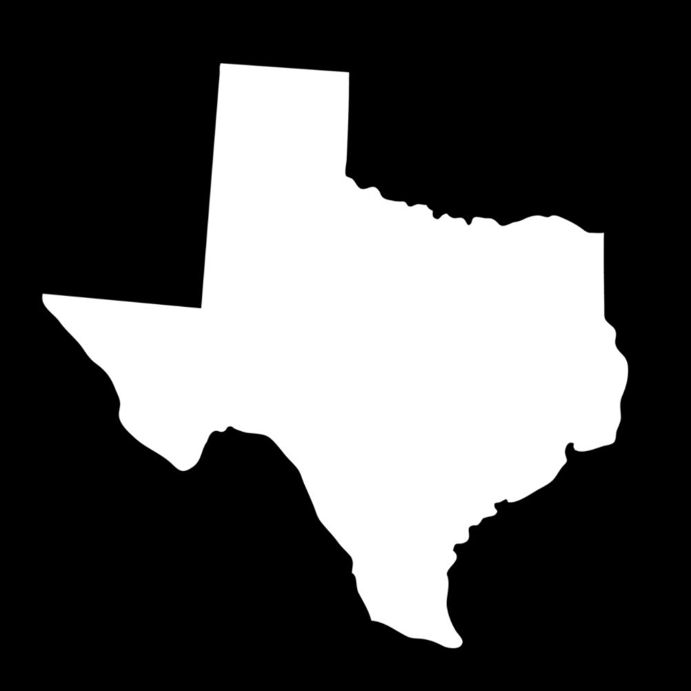 Texas State Silhouette Vinyl Sticker Car Decal