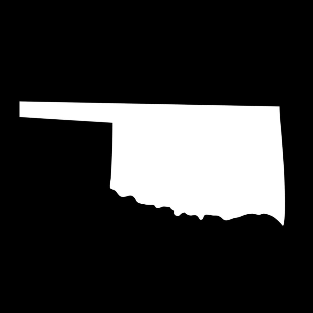 Oklahoma State Silhouette Vinyl Sticker Car Decal