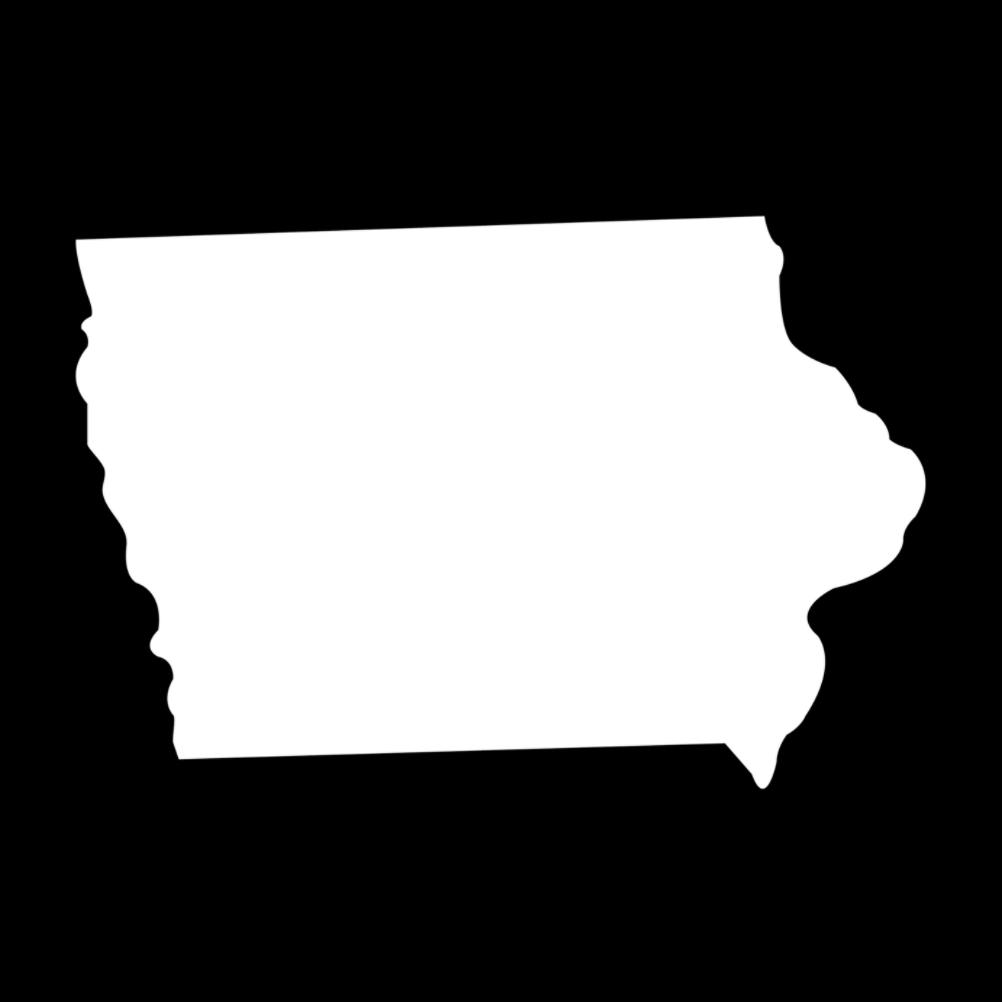 Yeti Car: Iowa State Silhouette Vinyl Sticker Car Decal