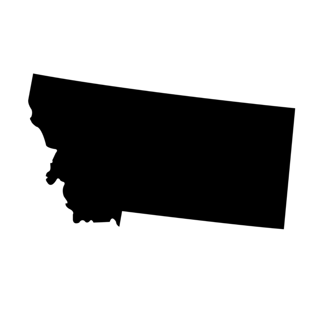 Montana State Silhouette Vinyl Sticker Car Decal