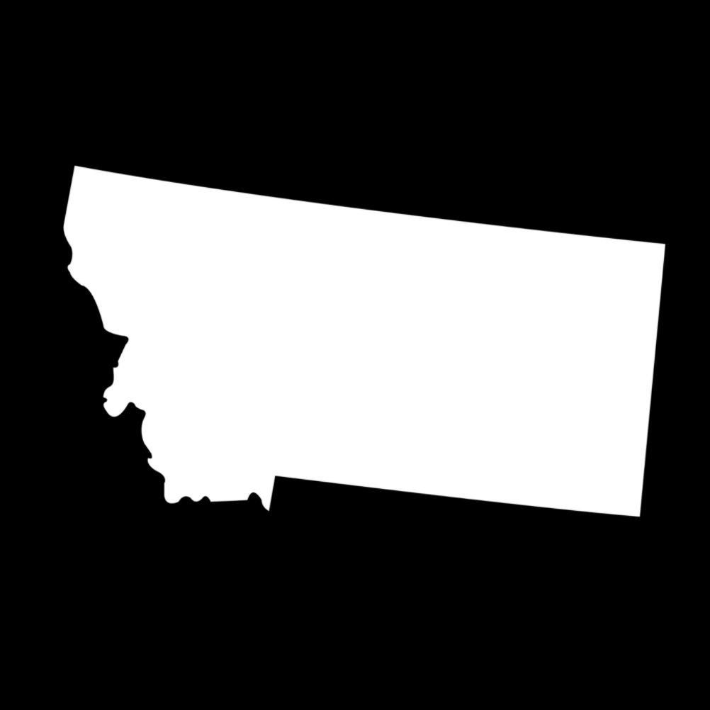 Montana State Silhouette Vinyl Sticker Car Decal