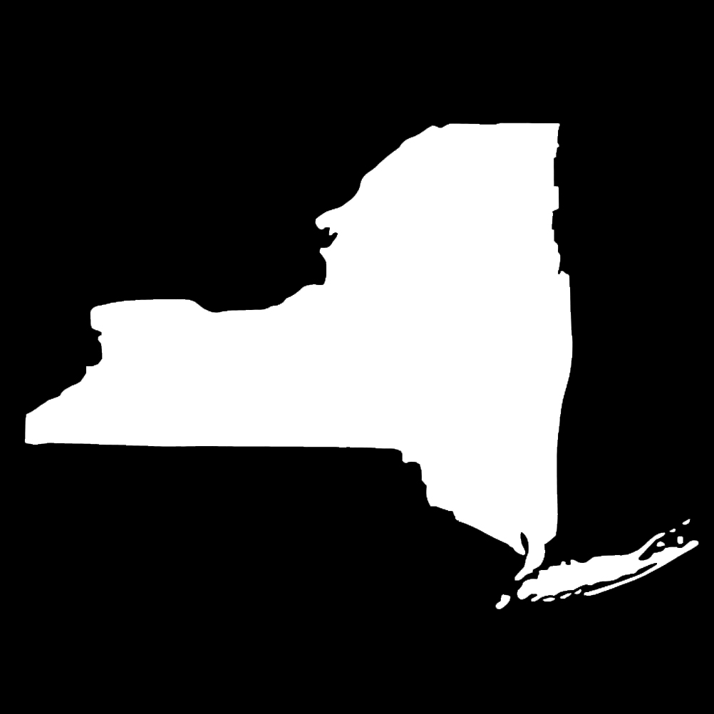 New York State Silhouette Vinyl Sticker Car Decal