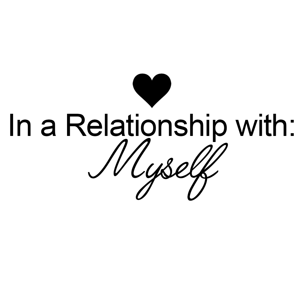 Funny In A Relationship With Myself Vinyl Sticker Car Decal