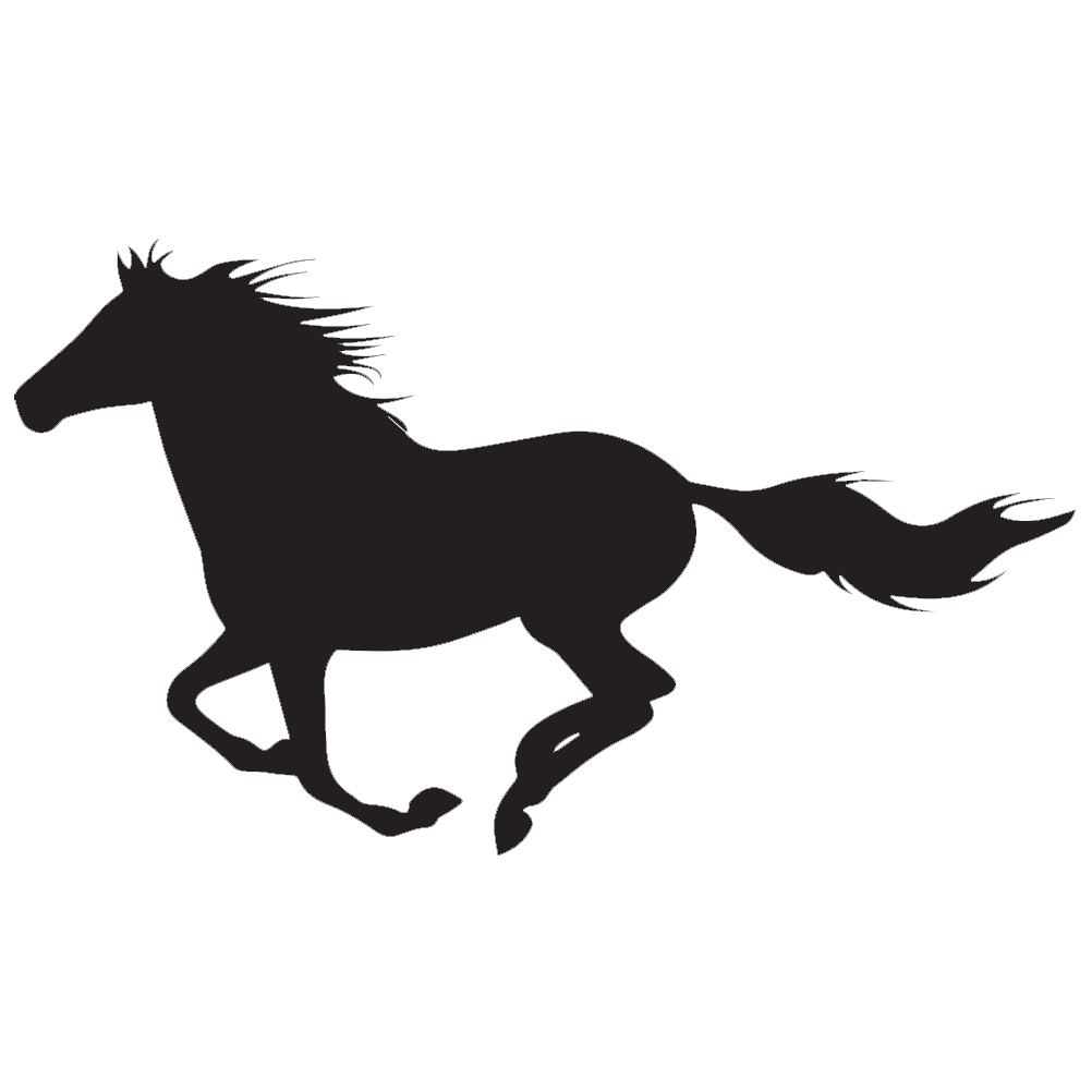 Galloping Horse Silhouette Vinyl Sticker Car Decal