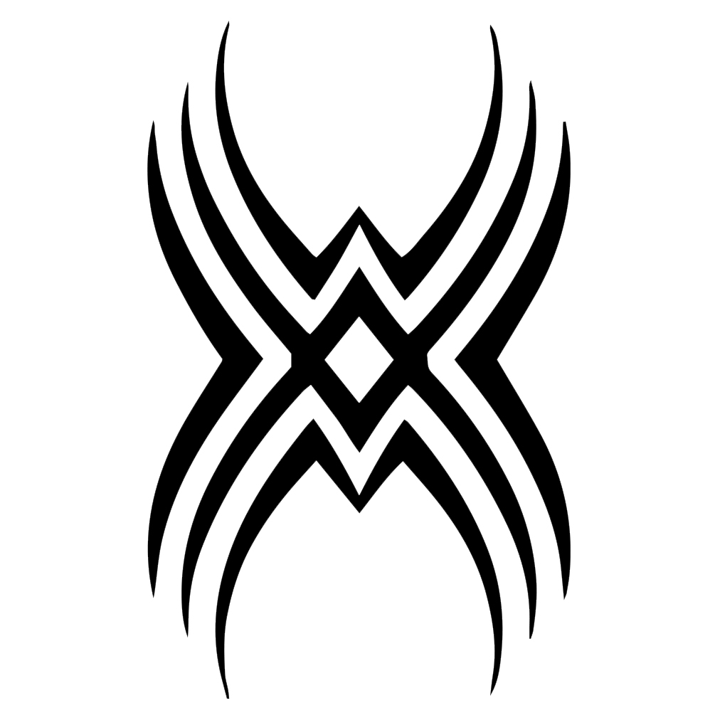 Tribal Tattoo Symbol: Tribal Symbol Silhouette Vinyl Sticker Car Decal