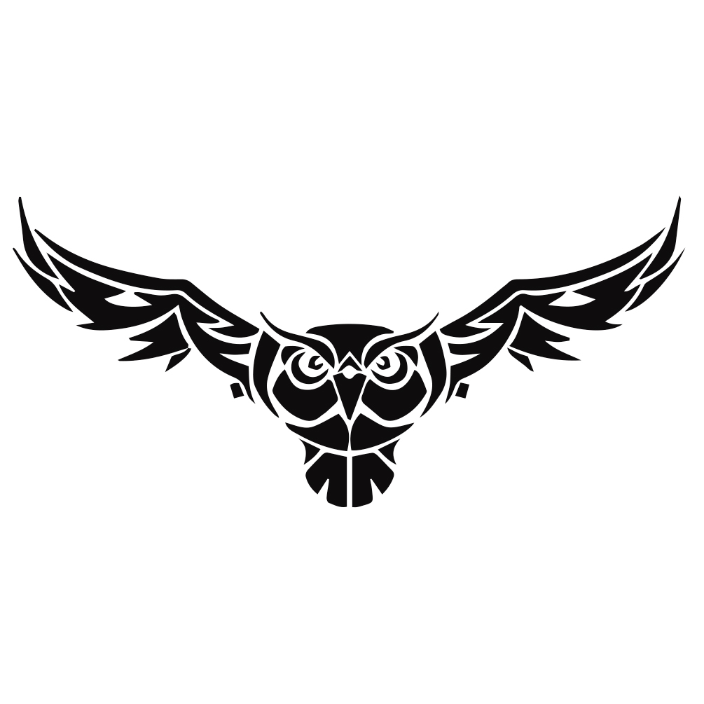Owl with wings silhouette vinyl sticker car decal tribal owl with wings silhouette vinyl sticker car decal biocorpaavc Choice Image