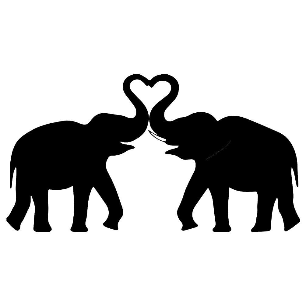 Asian Elephant Silhouette  Free vector silhouettes
