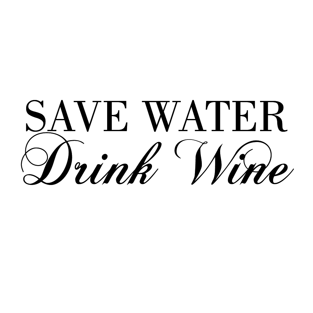 Save Water Drink Wine Funny Vinyl Sticker Car Decal