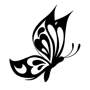 Tribal Butterfly Insect Silhouette Vinyl Sticker Car Decal
