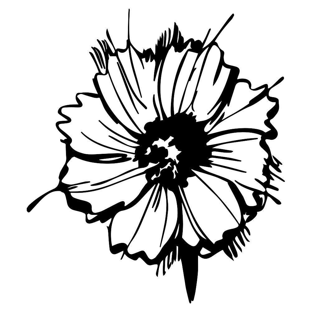 Wildflower Silhouette Vinyl Sticker Car Decal