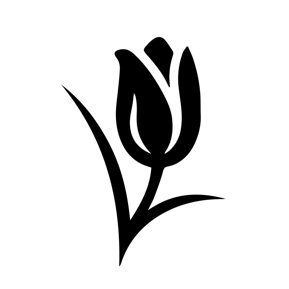 Tulip Flower Silhouette Vinyl Sticker Car Decal