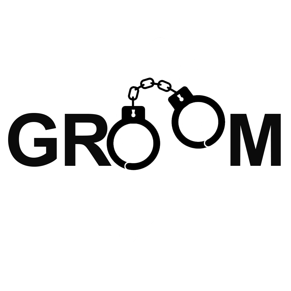 Funny Groom Handcuffs Just Married Vinyl Sticker Car Decal